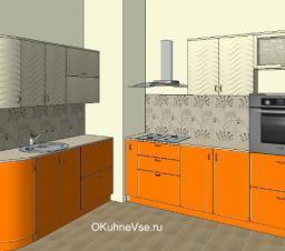 Планировка кухни с выступом