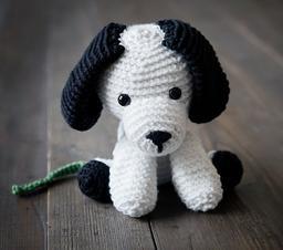 Собака связаная крючком