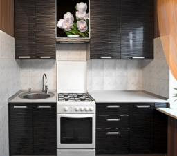 Прямая двухметровая кухня